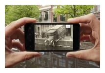 App geeft oude foto's in actueel straatbeeld weer