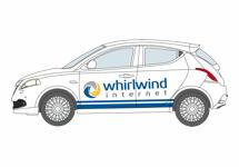 Lancia Ypsilon voorzien van Whirlwind-belettering